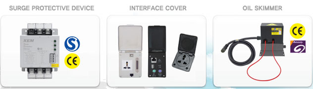 KEM 주요생산제품 - Surge Protector, Interface Cover, Oil Skimmer